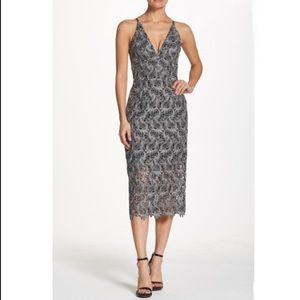 Lace sheath midi dress
